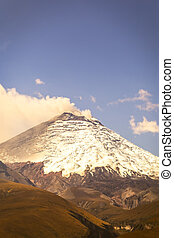 Cotopaxi volcano, also called Neck of the Moon, Ecuador,...