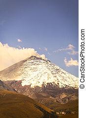Cotopaxi volcano, also called Neck of the Moon, Ecuador,...