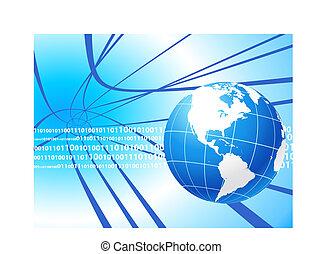 Globe on internet background Original Vector Illustration...