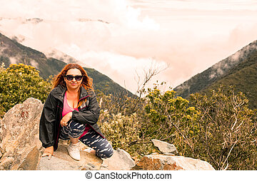 Happy Woman On Vacation - European Woman In Vacation...