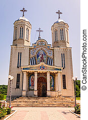 Front View Of Orthodox Monastery - Front View Of Orthodox...