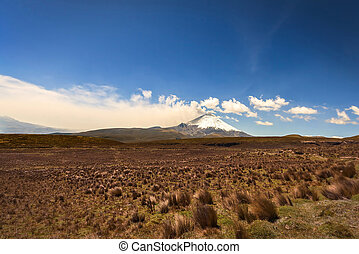 Plume Of Ash And Steam From The Cotopaxi Volcano - Large...