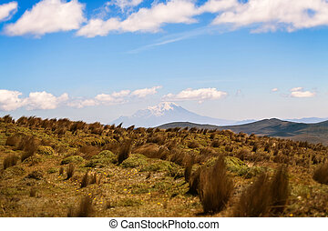 Landscape Of Cotopaxi Volcano Powerful Eruption, South...