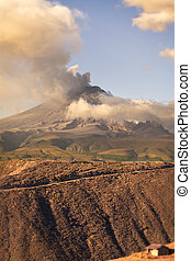 Cotopaxi Volcano Powerful Day Explosion, South America