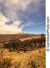 Cotopaxi Volcano Spewing Restive Plumes Of Ash And Gas -...