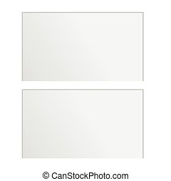 blank card on a white background