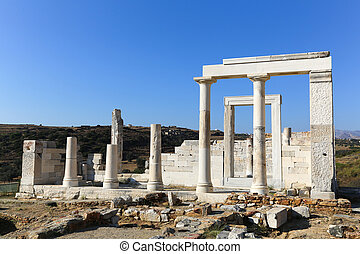 Demeter at Naxos - Temple of Demeter at the Naxos island in...