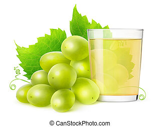 Isolated of grape juice - Glass of grape juice isolated on...