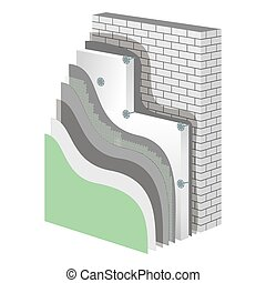 Insulation. Polystyrene Thermal Isolation Vector...