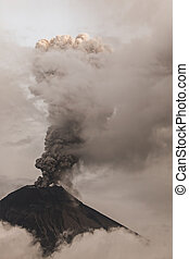 Tungurahua Volcano Spews Smoke And Ash In Fiery Eruption,...