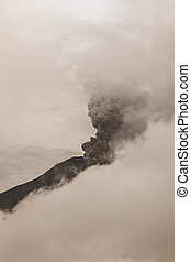 Tungurahua Volcano Spews Columns Of Ash And Smoke, February...