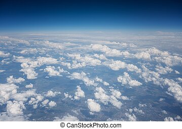 Aerial view of some clouds