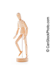 Wooden figure mannequin - Lointed wooden dummy isolated on...