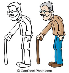 grandpa cartoon illustration
