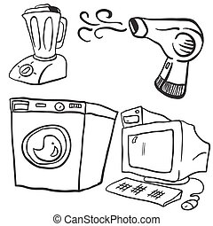 household objects - black and white household objects...