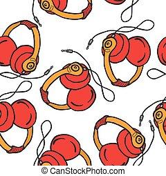 earphones pattern - earphones seamless pattern