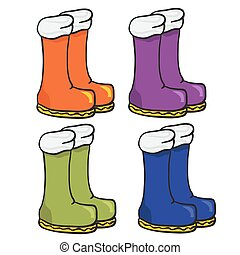 four pair of boots