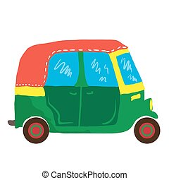 mini van - cute mini van cartoon illustration