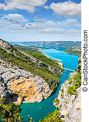 The water of the river Verdon