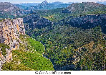 Canyon of Verdon, France - Canyon of Verdon, Provence,...