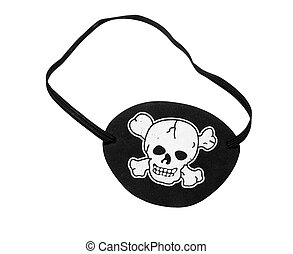 Pirate eyepatch - Pirate eypatch, isolated on background