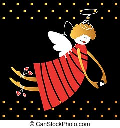 angel vector illustration - Angel with wings and halo....