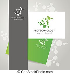 biotechnology nano logo - Biotechnology Abstract molecule...