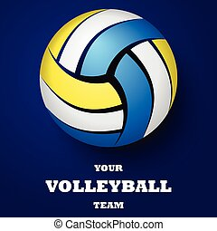 Volleyball background with text
