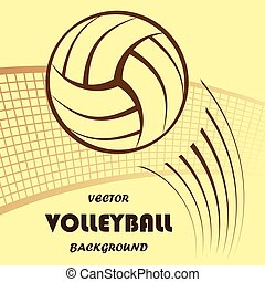 Volleyball yellow background