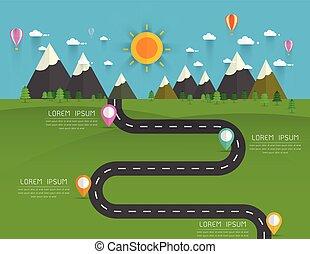 infographics Landscape background Vector illustration