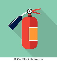 fire extinguisher vector - red metal glossiness fire...
