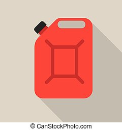 Metal canister of gasoline