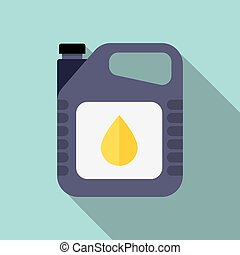 Plastic Canister of Motor Oil - picture of motor oil tank,...