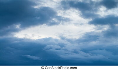 Clouds Moving in the Blue Sky - Storm Clouds Moving in the...