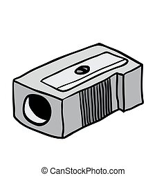 pencil sharpener cartoon doodle