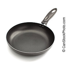frying pan on white background - frying pan isolated on...