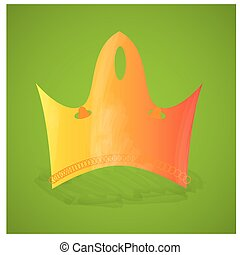 Royal crown - Isolated royal crown on a green background