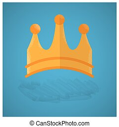 Royal crown - Isolated royal crown on a blue background