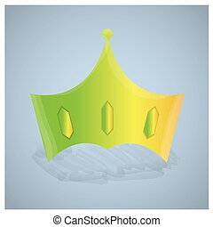 Royal crown - Isolated royal crown on a grey background