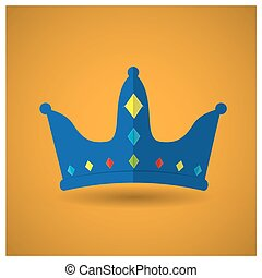 Royal crown - Isolated royal crown on a yellow background
