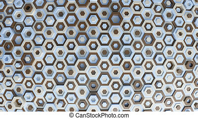 Hex Abstract Background - 3D Render of Hex Abstract...