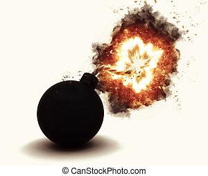 3D exploding bomb