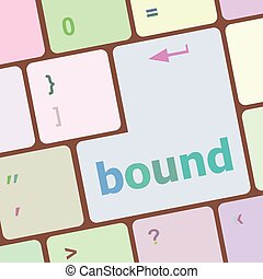 bound button on computer pc keyboard key vector illustration