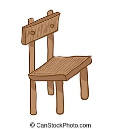 wooden chair cartoon doodle