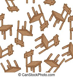 wooden chair pattern - wooden chair seamless pattern