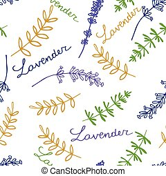 Lavender Seamless pattern - Lavender. Seamless pattern on...