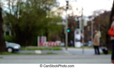 Unfocused Blurred Intersection - Unfocused blurred...
