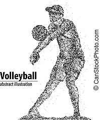 volleyball player abstract
