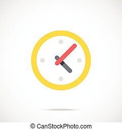 Clock flat icon. Time, working day, business hours concept....