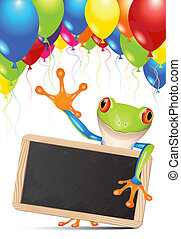 Little tree frog message - Little tree frog holding a...